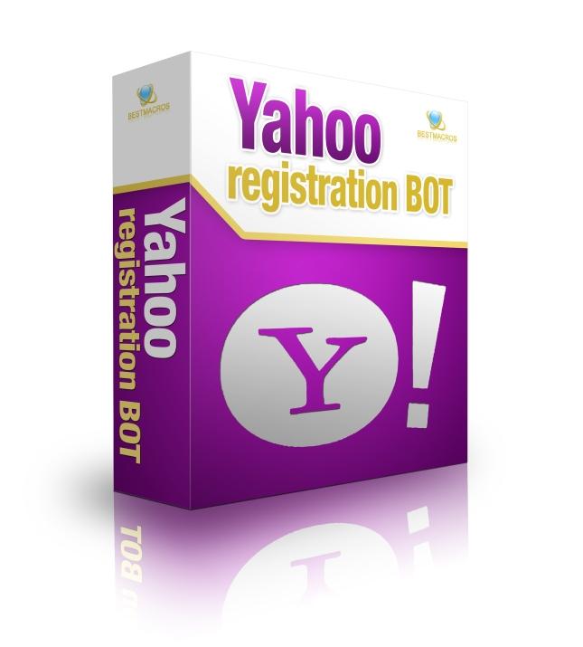 Yahoo registration bot