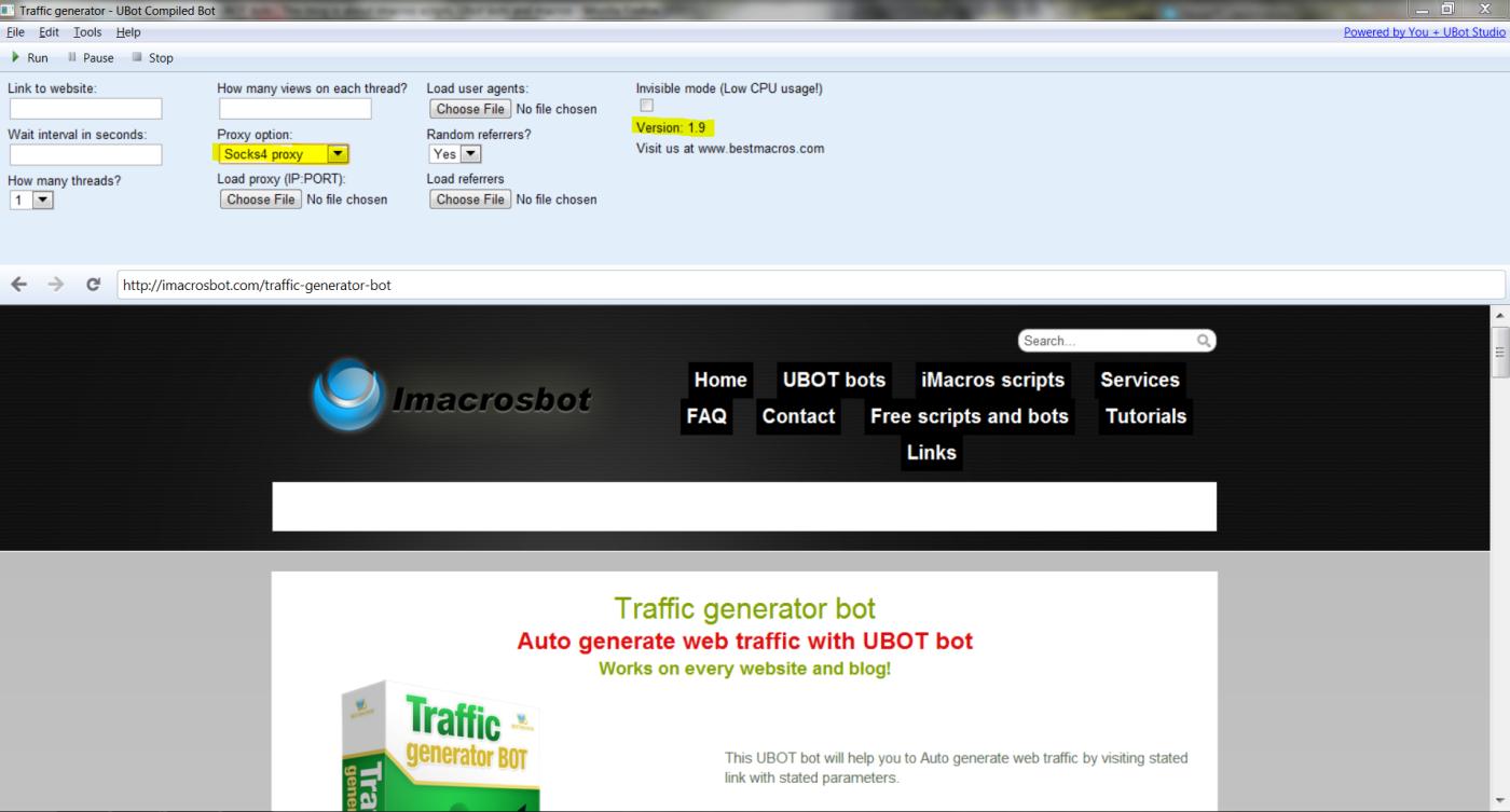 Traffic generator bot has been updated!   Bestmacros - Best web